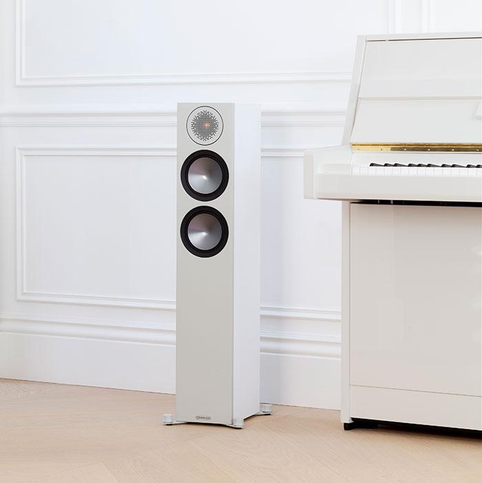 Monitor Audio Bronze 200 6G - Enceintes Colonnes - Noir, Blanc ...